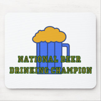 Beer Drinking Champion Mouse Pad