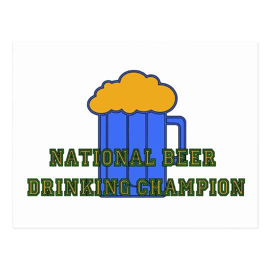Beer Drinking Champion Postcard