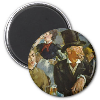 Beer Drinking - Edouard Manet 2 Inch Round Magnet