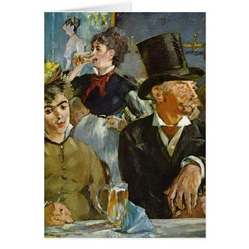 Beer Drinking - Edouard Manet Greeting Card