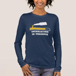 Beer Drinking Humor - Inebriation in Progress Long Sleeve T-Shirt