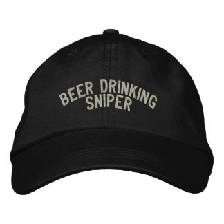 Beer Drinking Sniper Embroidered Baseball Caps