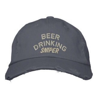 Beer Drinking Sniper Funny Embroidered Baseball Cap
