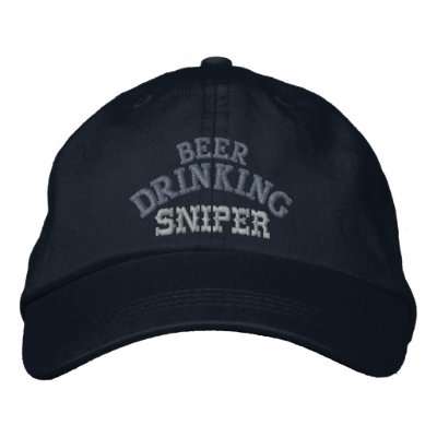 Beer Drinking Sniper Hat Embroidered Baseball Cap