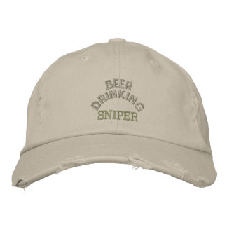 Beer Drinking Sniper Hat Embroidered Hat