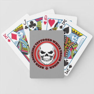 Beer Drinking Tattooed White Trash Biker Bicycle Playing Cards