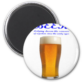 Beer - Drown The Sorrows 2 Inch Round Magnet