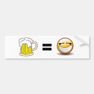 Beer equals Happiness Bumper Stickers