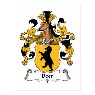 Beer Family Crest Postcard