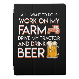 Beer Farmer Want Work Farm Drive Tractor iPad Pro Cover