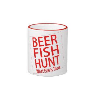 beer fish hunt what else funny coffee mug design