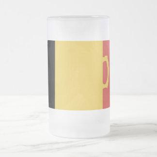Beer Flag Frosted Glass Beer Mug