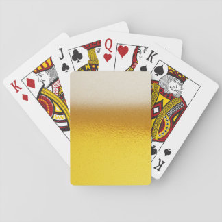 Beer Foam 4 Playing Cards, Standard Index faces