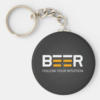Beer - Follow your intuition Keychain