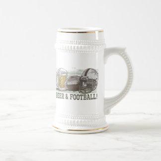 Beer & Football  by Mudge Studios Beer Stein