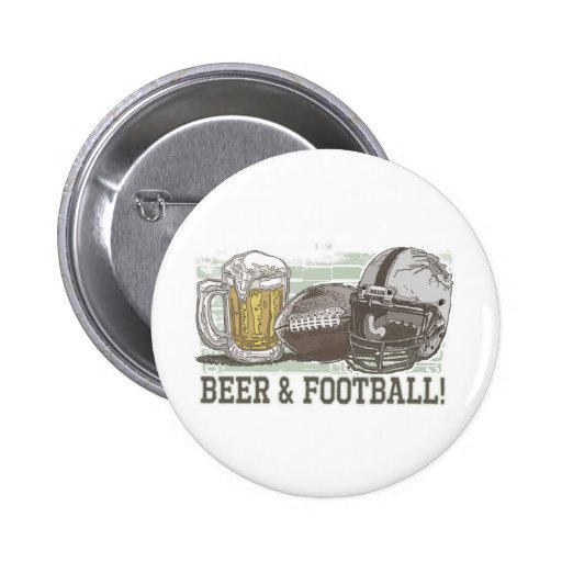 Beer & Football  by Mudge Studios Button