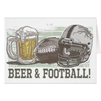 Beer & Football  by Mudge Studios Card