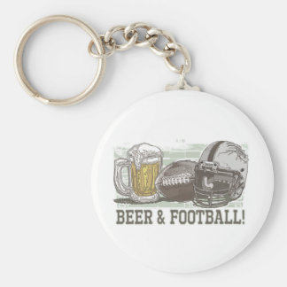Beer & Football  by Mudge Studios Key Chains