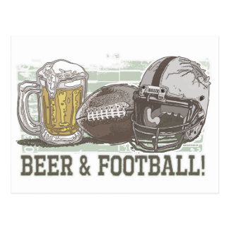 Beer & Football  by Mudge Studios Postcard