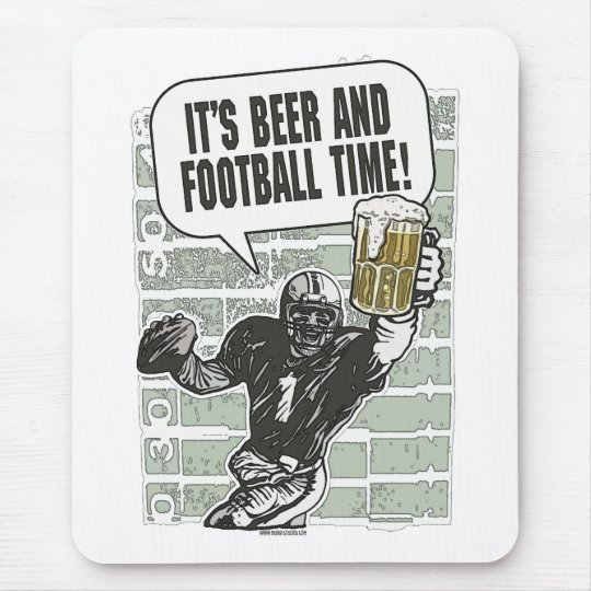 Beer & Football Time  by Mudge Studios Mouse Pad