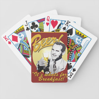 Beer for Breakfast Bicycle Playing Cards