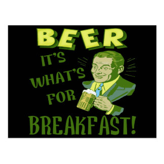 Beer For Breakfast T-shirts Gifts Postcard