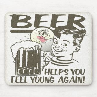 Beer Fountain of Youth Mouse Pad