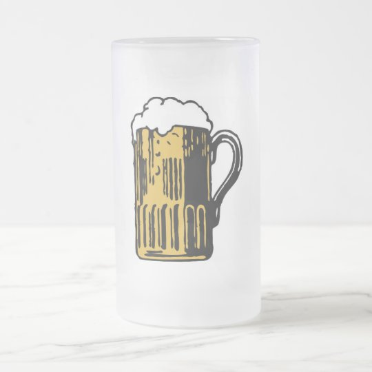 BEER FROSTED GLASS BEER MUG