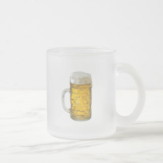 Beer Frosted Glass Coffee Mug