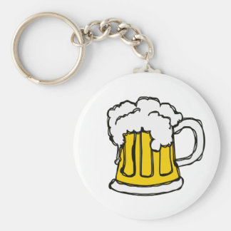 Beer! Frothy Bubbly Mug of Brew Keychain