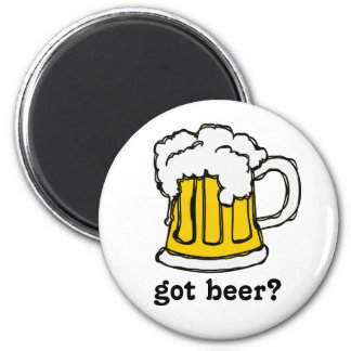 Beer! Frothy Bubbly Mug of Brew Fridge Magnet
