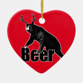 Beer fun ceramic ornament