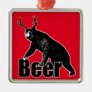 Beer fun metal ornament