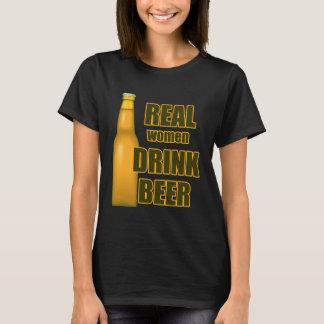 Beer Funny Real Women Black T-shirt