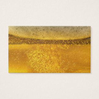 Beer Galaxy a Celestial Quenching Foam Business Card