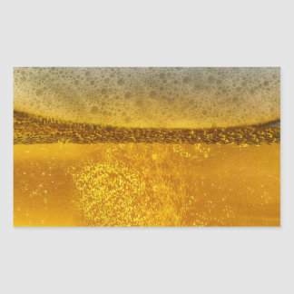 Beer Galaxy a Celestial Quenching Foam Rectangular Sticker