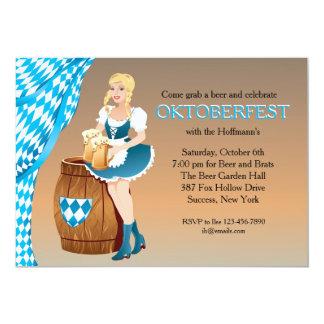 Beer Garden Maiden Oktoberfest Invitation
