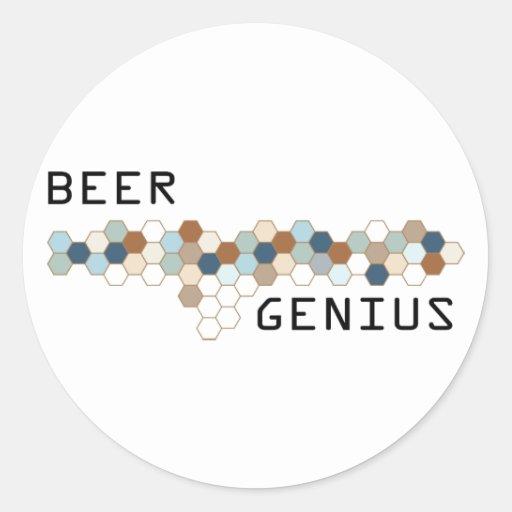 Beer Genius Round Sticker