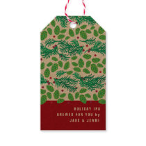 Beer Gift Tag, Holiday, Christmas, Hops Gift Tags
