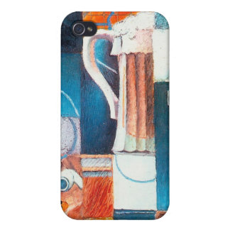 Beer Glass and Cards, by Juan Gris iPhone 4 Covers