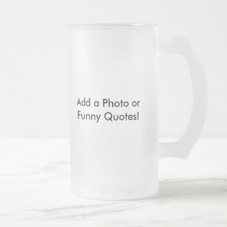 Beer Glass as Gift Idea 16 Oz Frosted Glass Beer Mug