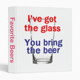 Beer Glass Avery Binder