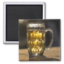 Beer glass beverage close up, India Magnet