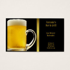 Beer Glass Business Card at Zazzle