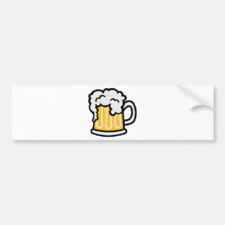 Beer glass froth bumper stickers