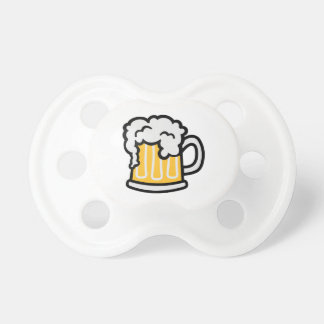 Beer glass froth pacifier