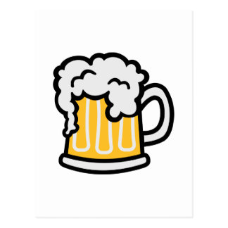 Beer glass froth postcard
