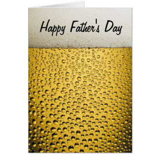Beer Glass Happy Father's Day Card