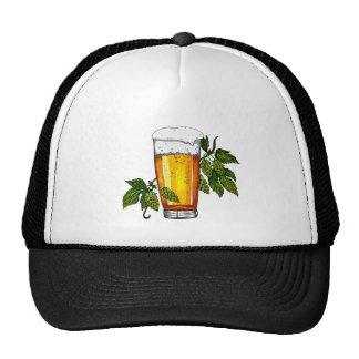 Beer Glass & Hops Trucker Hats
