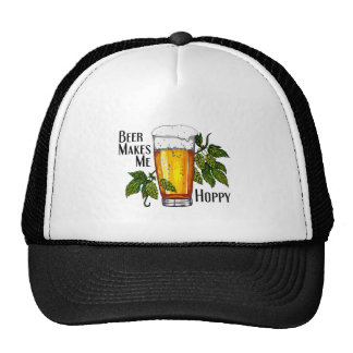 Beer Glass & Hops with Text Trucker Hat